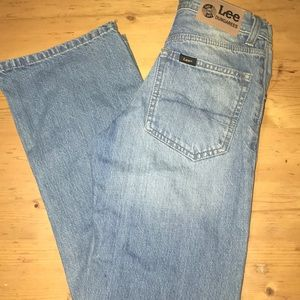Lee Dungarees Boys Husky Jeans 12 Boot Cut